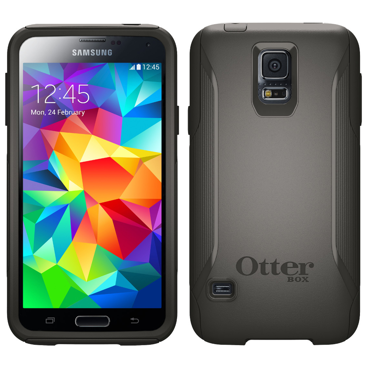 best loved cf2d0 3ba9d Details about Otterbox Commuter Series Drop Protection Case for Samsung  Galaxy S5 - Black