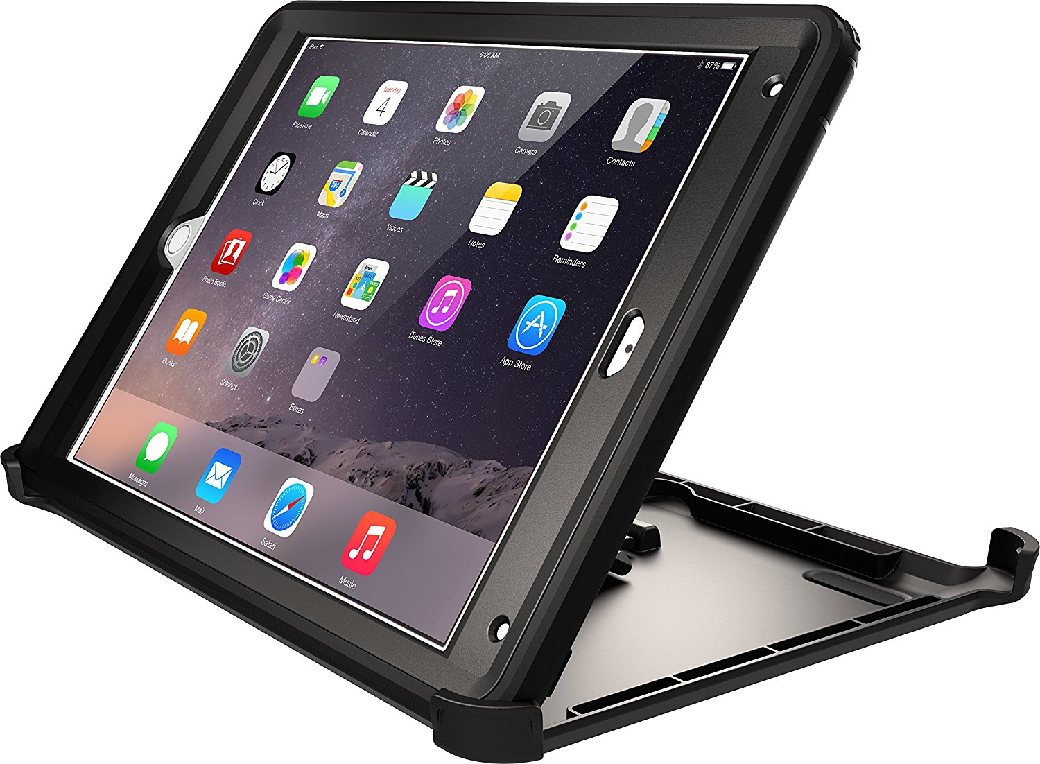 new concept 5bdc2 bbaa8 Details about OtterBox Defender Series Case & Stand for iPad Air 2 BLACK