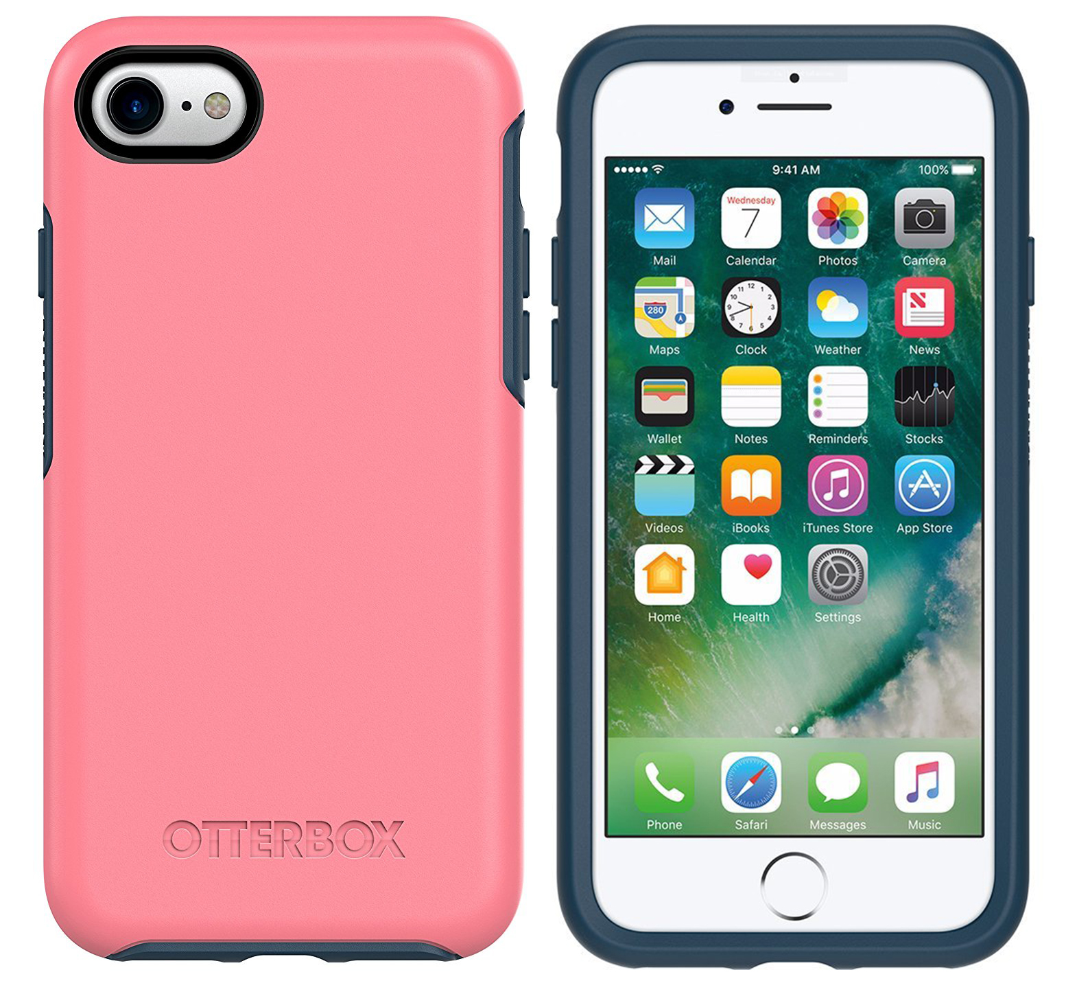 the best attitude 63f69 db63a Details about iPhone 8 & 7 OtterBox Case Symmetry Series - Pink Salt water  Taffy