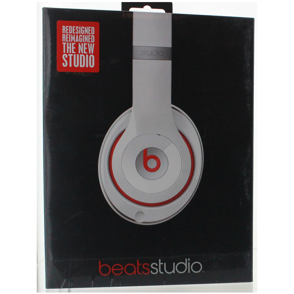 dd3137b31e5 Details about Beats by Dr Dre Studio Wired 2.0 Over-Ear Headphone Headband  White - Red