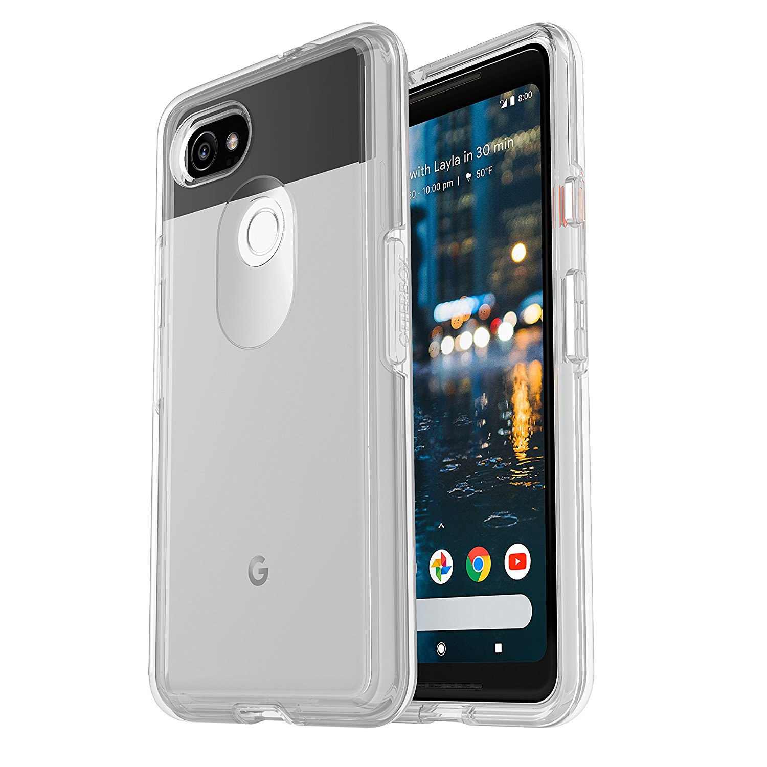 newest c92fa 6f1b1 Details about OtterBox Symmetry Clear Series Protective Case for Google  Pixel 2 XL - Clear