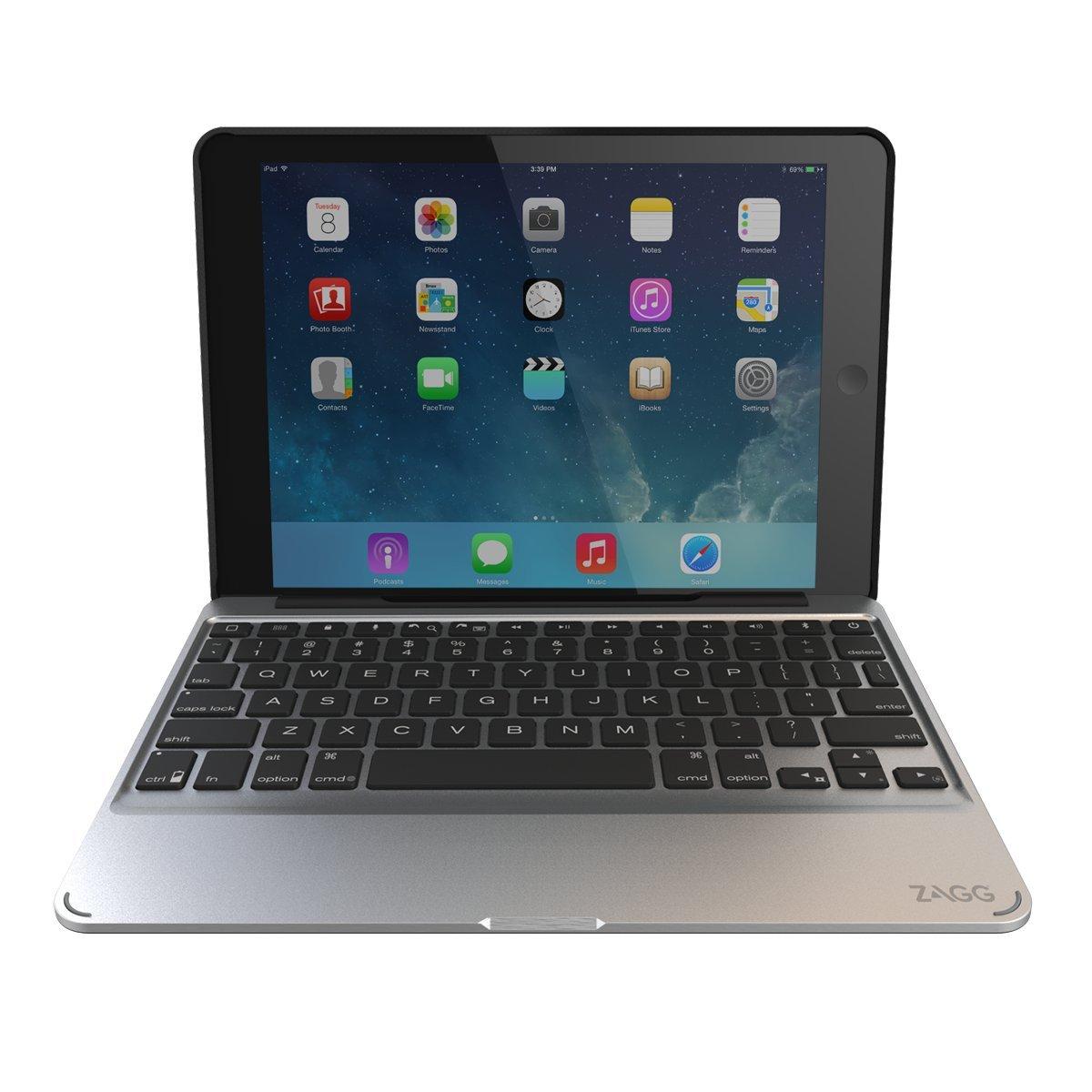 Zagg Slim Book Case Backlit Wireless Bluetooth Keyboard