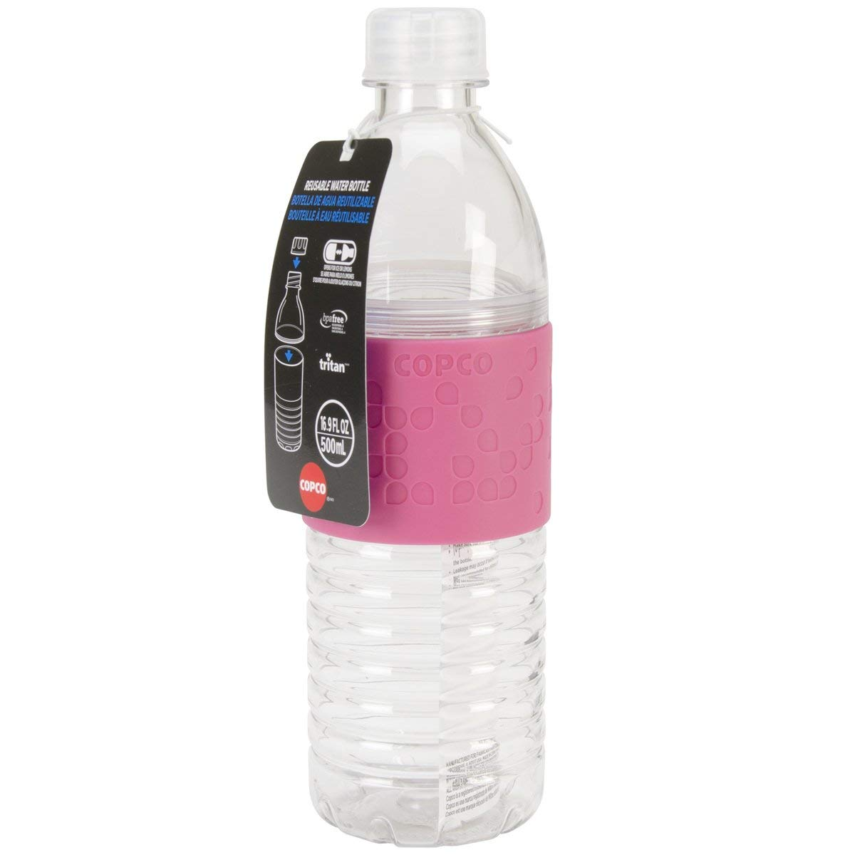 Copco Hydra Water Bottle Non Slip Sleeve BPA Free 16.9 Oz 3 Pack Robins Egg Blue