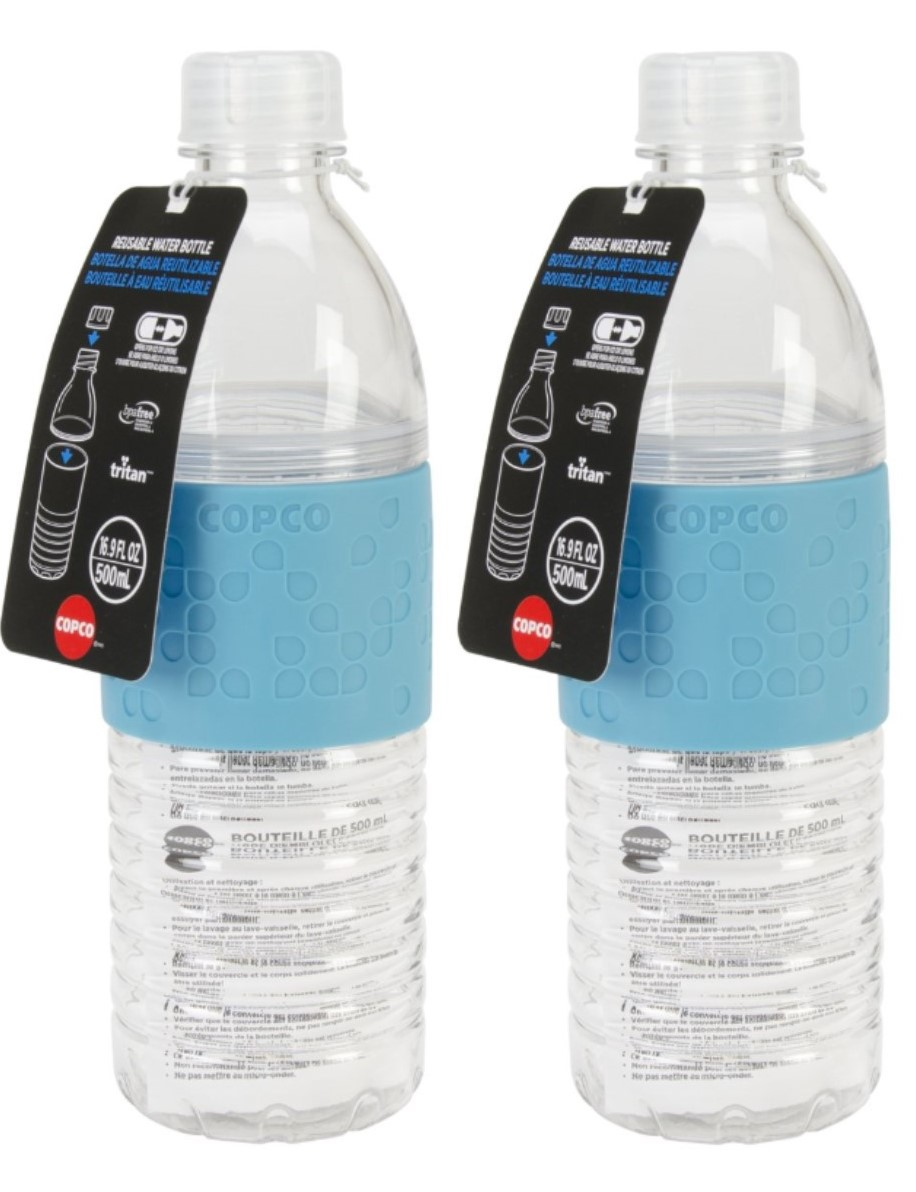 Reusable 16.9 Oz 2 Pack Pink Purple Copco Hydra Water Bottle BPA Free Plastic
