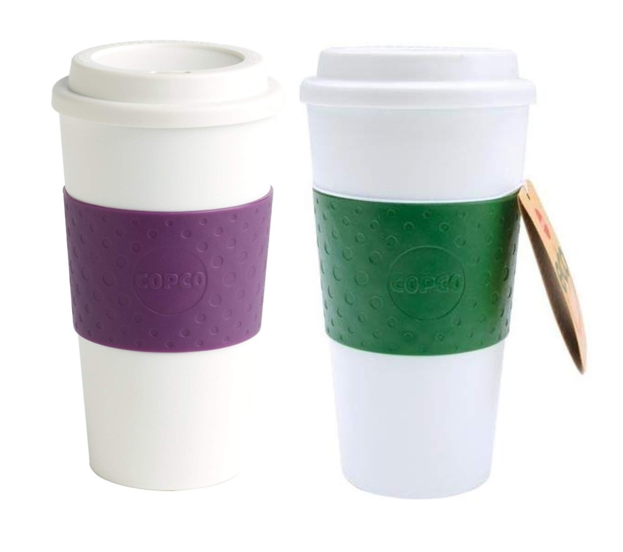 Copco Acadia Coffee Mug Reusable Insulated BPA Free 16 oz 2 Pack Brown Blue
